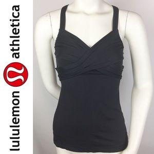 Lululemon | Black Wrap It Up Black Tank Top 4 XS